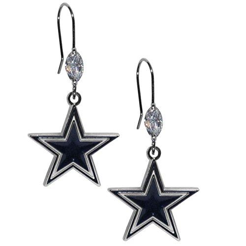 NFL Dallas Cowboys Crystal Dangle Earrings Dallas Cowboys Nfl Crystal