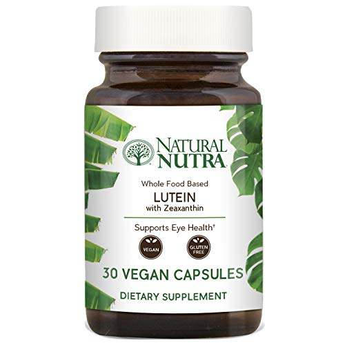 Vegetarian Softgels 30 (Lutein with Zeaxanthin Supplement by Natural Nutra, Whole Food Formula, Soy Free, Vegan and Vegetarian, 20mg, 30 Capsules)