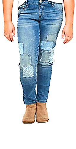Justice Girl's Patchwork Jeggings (12) (Justice Jeans Size 12)