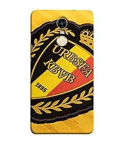 ColorKing Football Belgium 08 Multicolor shell case cover for Xiaomi Redmi Note 4