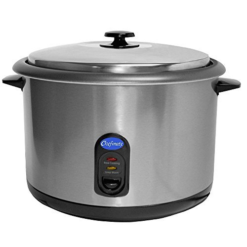 Globe RC1 Rice Cooker, 25 cups, Silver