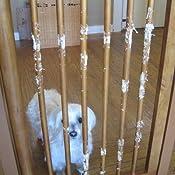 Amazon Com Richell Wood One Touch Pet Gate Autumn Matte