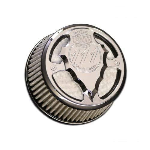 Lloydz Indian Round Facet Cut Airbox Chrome W/Natural Filter Element from Lloydz Motorworkz