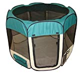 Teal Pet Dog Cat Tent Puppy Playpen Exercise Pen M