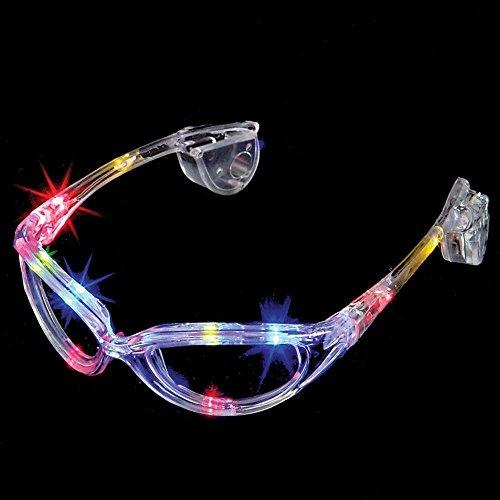 Flashing Panda LED Light-Up Flashing Party Raver Full-Frame Sunglasses Shades, - Sunglasses Panda With
