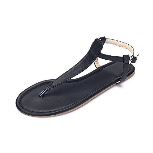 OCHENTA Mujer y Hija de las sandalias Las placas de Ciclo simple Negro