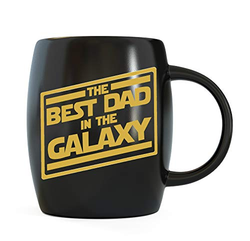 (Father's Day Gifts for Best Dad In The Galaxy Novelty Drinkware Cups - For World's Greatest Papa Ever, New Father, Husband Ceramic Coffee Mug Tea Cup - For Sports Fan, Travel or Camping Loving Fathers )