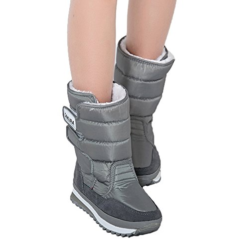boots Space Velcro Furry Grey boots Short Sakura Colorful Waterproof Girl's Fortuning's Winter JDS Women's snow boots xwOvqFaH
