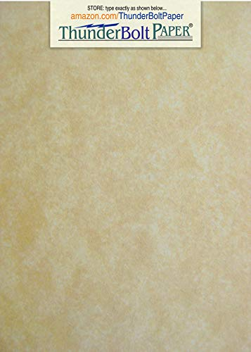 - 100 Old Age Parchment 65lb Cover Weight Paper - 5