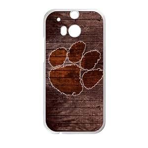 Generic Customize Unique Phone Case--NCAA Clemson University Clemson Tigers Team Logo Plastic Case Cover for HTC One M8(Laser Technology) hjbrhga1544