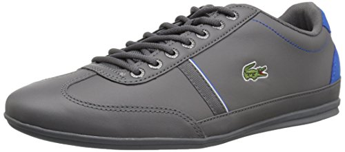 Lacoste Men's Misano Sport Sneakers,Dkgry/Blu leather,12 M US ()
