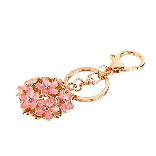 Charm hanger hoge kwaliteit kristal bloem sleutelhanger legering, voor tas decoratie, voor cadeau