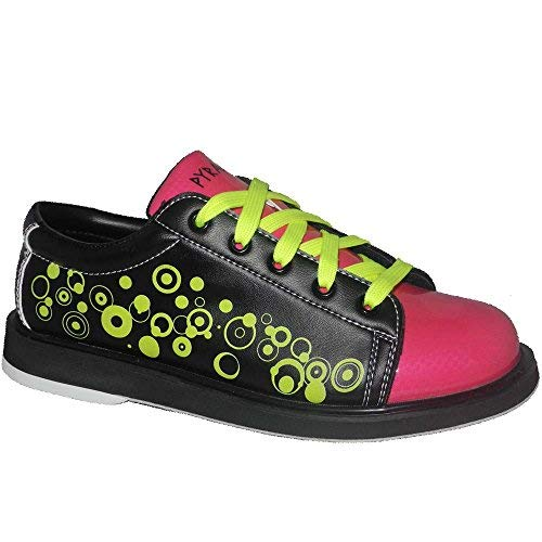 Pyramid Youth Rain Black/Hot Pink/Lime Green Bowling Shoes (3 Youth) by Pyramid