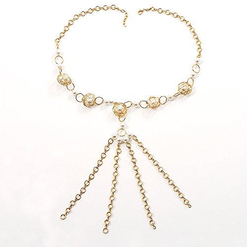 Gold Long Tassel Imitation Pea