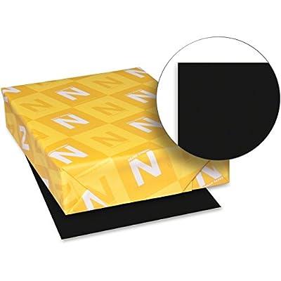 "Astrobright Paper, 65lb, 8-1/2""x11"", 100Shts, 6/PK, Black"