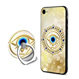 Egyptian Ibis Ankh Horus Eye iPhone 7/8 Case with 360 Rotating Ring Holder Slim Fit Hard PC Protective Shock-Absorption Anti-Scratch Case Back Cover for iPhone 7/8