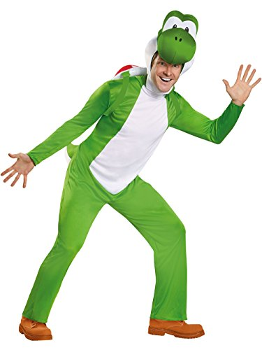 Disguise Men's Yoshi Deluxe Adult Costume, Green, XX-Large -