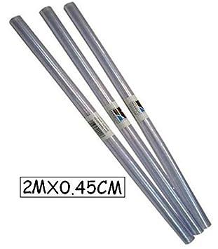 Renolit 85000 - Rollo forralibros transparente, sin adhesivo, 45 x 200 cm, 1 unidad: Amazon.es: Oficina y papelería
