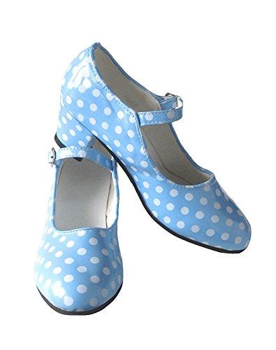 21cb492a4547d4 La Senorita Spanische Flamenco Schuhe - Blau Weiß - Größe 37 - Innenmaß 23