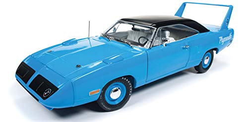 Limited Edition Looney Tunes (1970 Plymouth Superbird Petty Blue with Black Top 50th Anniversary Looney Tunes Limited Edition to 1002 Pieces Worldwide 1/18 Diecast Model Car by Autoworld AMM1137)