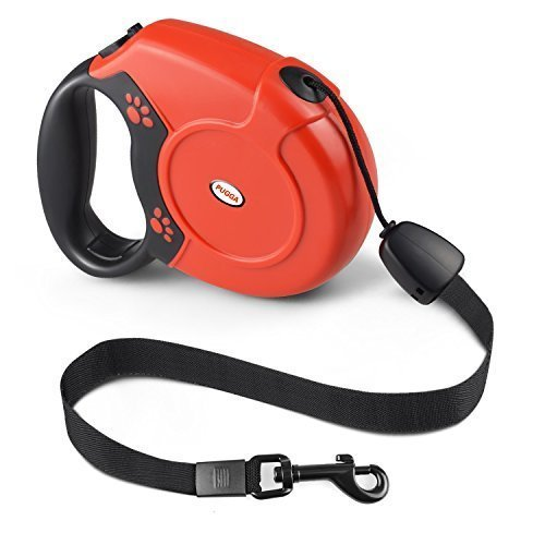 PETIG Retractable Dog Leash, Pet Walking Leash Retractable 26 ft for Small Medium Large Dogs Up to 88lbs, Tangle Free with One Button Break & Lock, Best for Dog Walking Running & Training (Red) (Best Type Of Dog Leash)