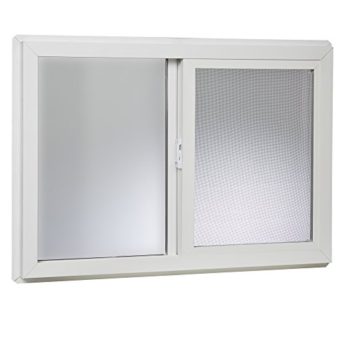 "Park Ridge VBSI3222PR Vinyl Basement Slider Window, 32"" x 22"", White"