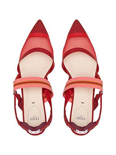Fendi Da Donna 8r6709a331f12k4 Ballerine In Pelle Rossa