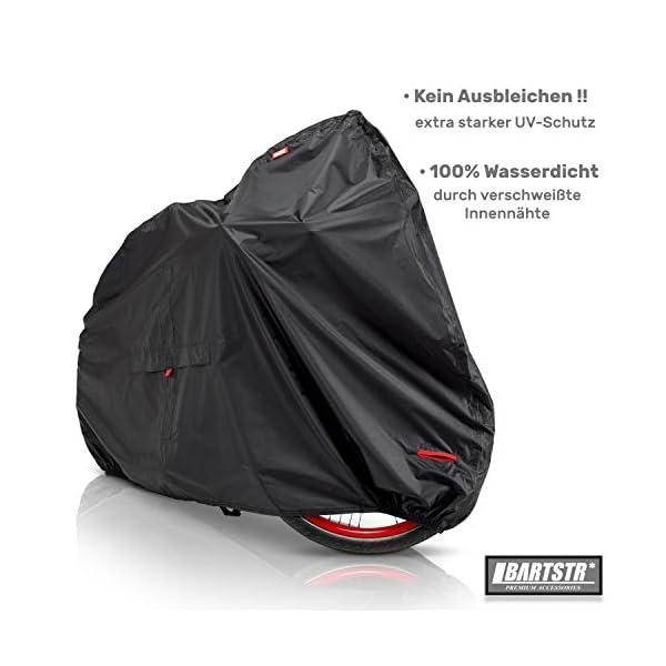 41CBq9swOeL BARTSTR Fahrradabdeckung wasserdicht - Wetterfeste Fahrradgarage aus reißfestem Material - Extra stark, hoher UV-Schutz…