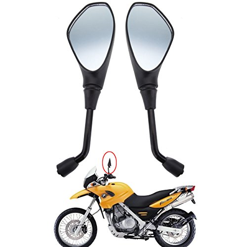 Sange 10mm Universal Motorcycle Rear View Mirrors Left Right Side Rearview Mirrors for BMW F650GS F800GS F800R 2008-2011 Aprilia Tuono SL750