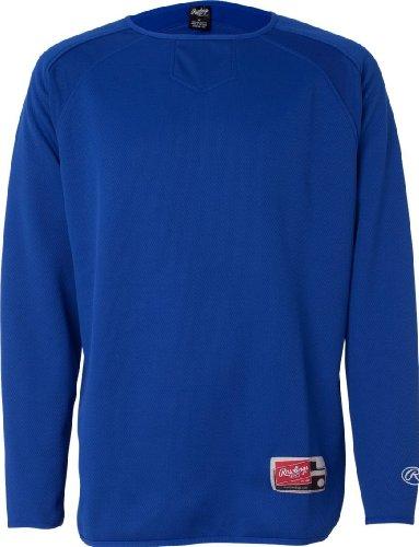 Rawlings 9705 - Long Sleeve Flatback Mesh Fleece Pullover Royal 7rDTkD4onc