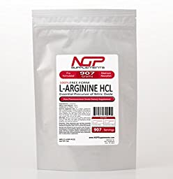 L-Arginine Powder 2lb (32oz) -100% Pure Base Powder -HCL