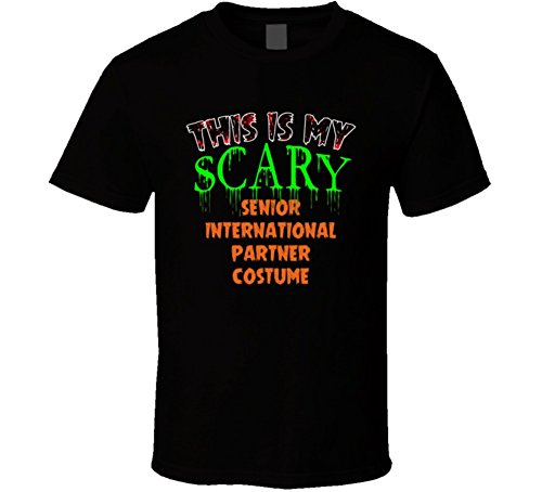 (This is My Scary Senior International Partner Halloween Funny Custom Job T Shirt 2XL Black)