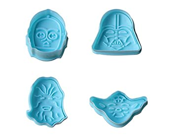 Star Wars para Tartas Fondant Decoración de Pasteles Cortador de galletas molde émbolo herramienta regalo: Amazon.es: Hogar