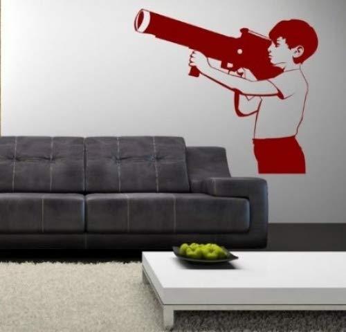 Banksy Boy With Bazooka - Wall Sticker (Large: 60cm x 66cm)