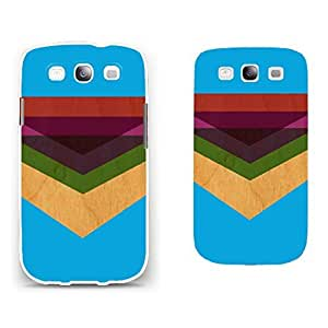 Chevron Patterned Samsung Galaxy S3 Hard Plastic Protector Case Back Cover