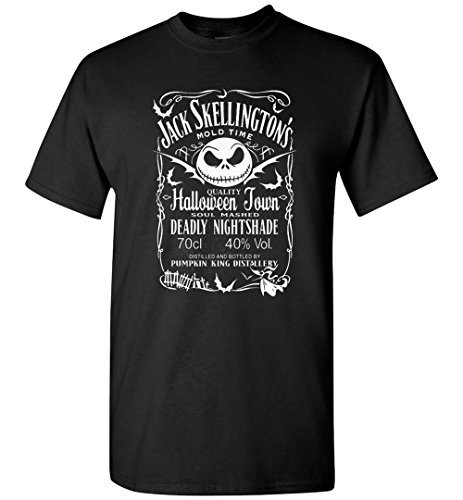 TEEPAAA Nightmare Before Xmas Pumkin King Distollery Halloween T-Shirt