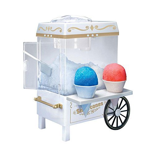 Vintage Collection Snow Cone Maker, Side Tray Offers a Convenient Place to Hold Prepared Cones