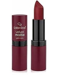 Golden Rose Velvet Matte Lipstick, 25 Mexican Red