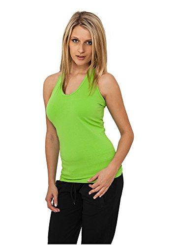 Urban Classics Ladies–TB382Neck Holder Camiseta Top–Camiseta de mujer Verde Lima