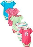 Peanut Buttons Baby-Girls Newborn Girl Love Ladybug 5 Pack Bodysuit