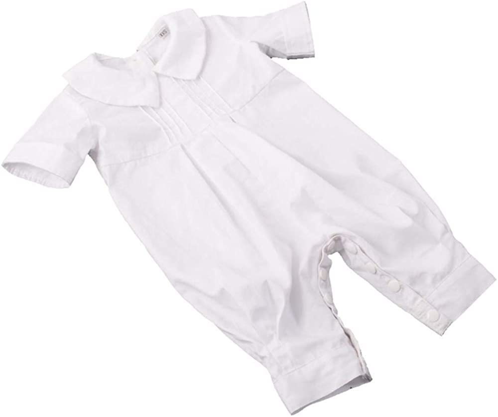 12 Months GRACEART Pure Cotton Baby Boys Christening Gowns Baptism Infant Outfit White M