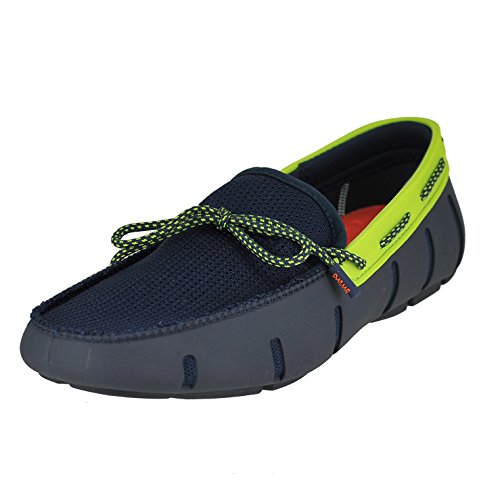 Swims Mens Mocassins En Dentelle Marine / Vert Sparkle