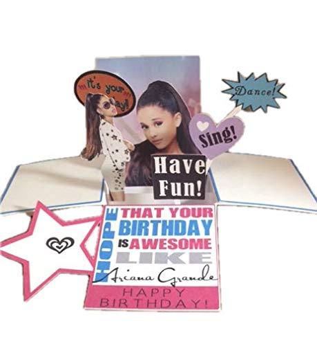 TLC Corner- Ariana Grande Pop-Up Birthday Greeting Card