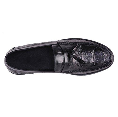 Antideslizante Cómodo Conducir Moda Al Informal Black Hombre Perezoso Transpirable De Oxford Libre Aire Hombres Zapatos wIX1ASYY