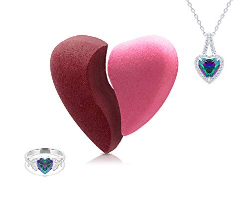 Fragrant Jewels Love Bath Bomb Set with Collectible Prendant and Ring (Size 5-10)