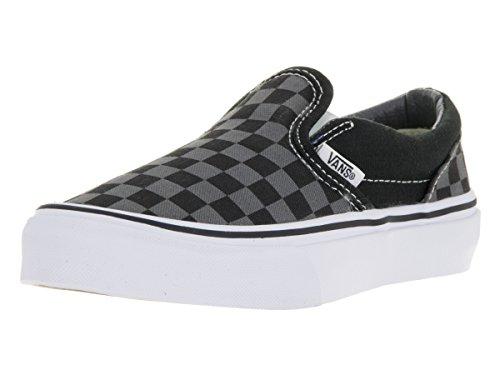 Top checkered vans black and grey