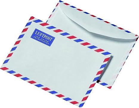 Sobre para carta por correo aéreo DIN C6 (100 unidades ...