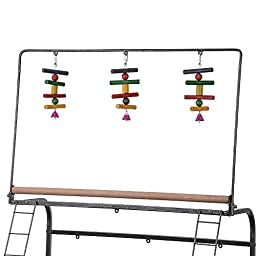 Yescom Pet Parrot Play Stand Bird Cage Gym Perch with Feeding Cups Overall 41\