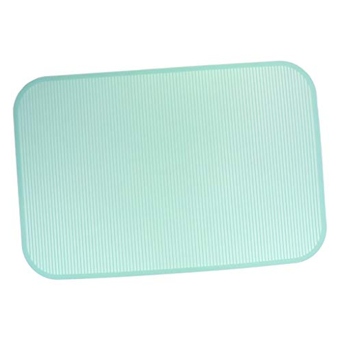 Flameer Pet Grooming Table Mat Rubber for Pet Bathing Grooming Training Non-Slip Pink&Green - Green