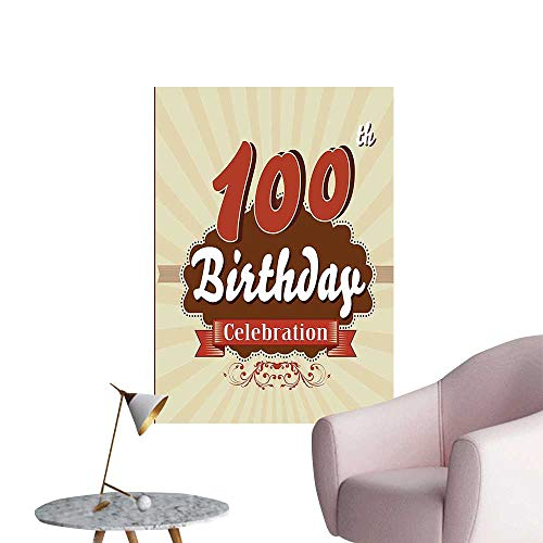 Vinyl Wall Stickers Chocolate Wrap Like Brown Party Invitation Hundred Years Cinnamon and Cream Perfectly Decorated,28